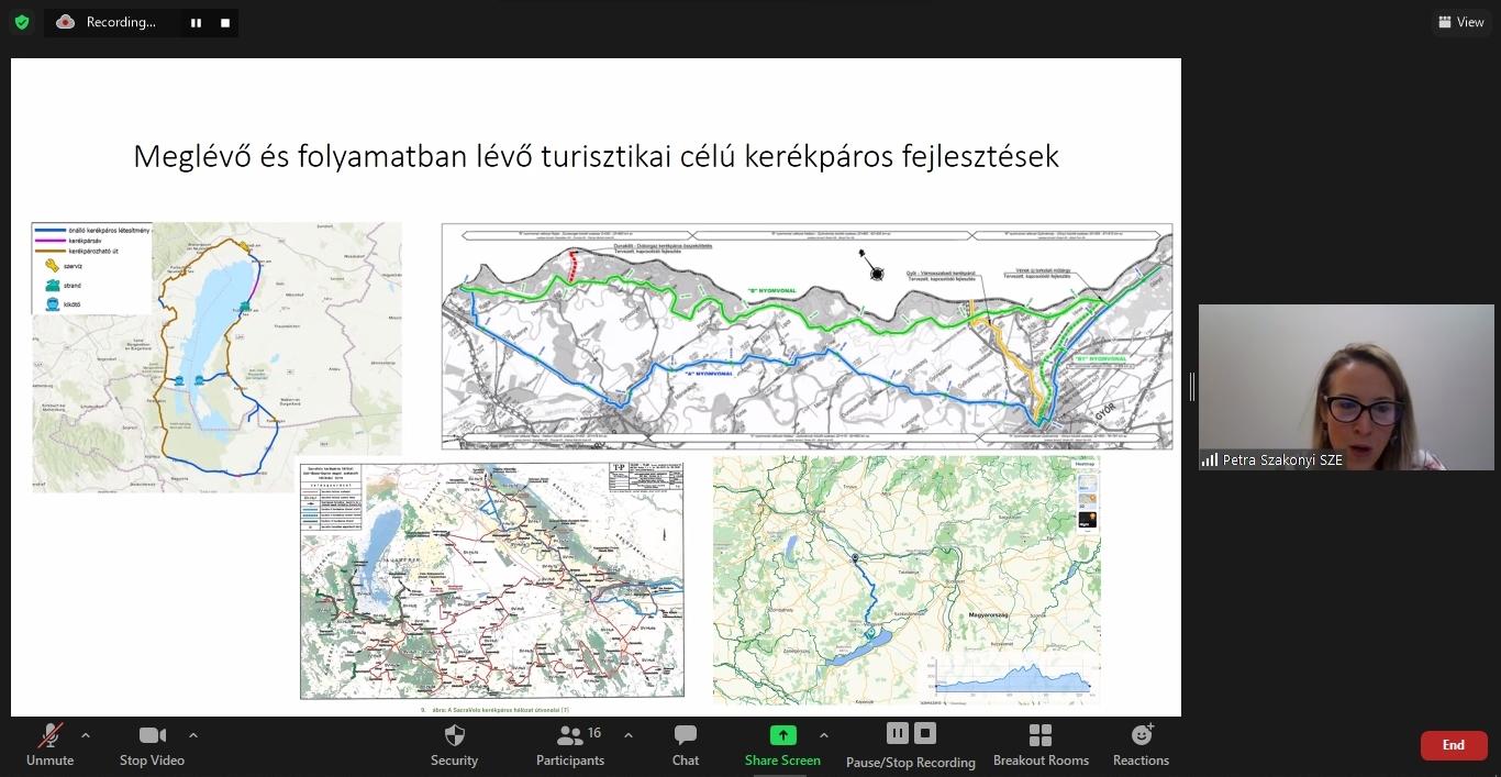 Szakonyi Petra - Győr-Moson-Sopron megye kerékpáros hálózati terve