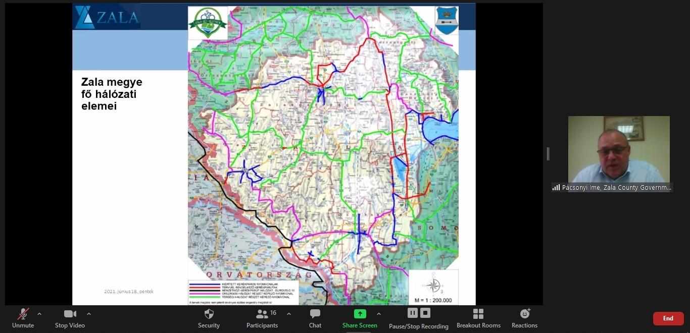 Pácsonyi Imre - Zala megye kerékpáros hálózati terve