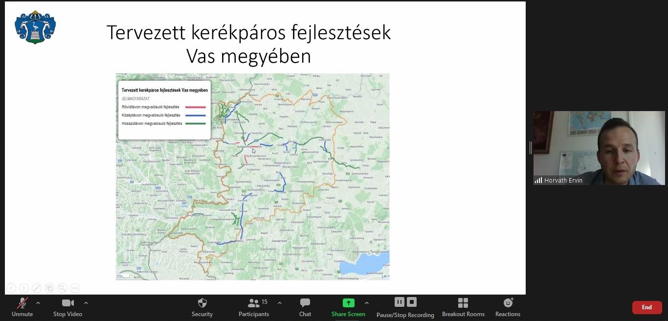 Horváth Ervin - Vas megye kerékpáros hálózati terve