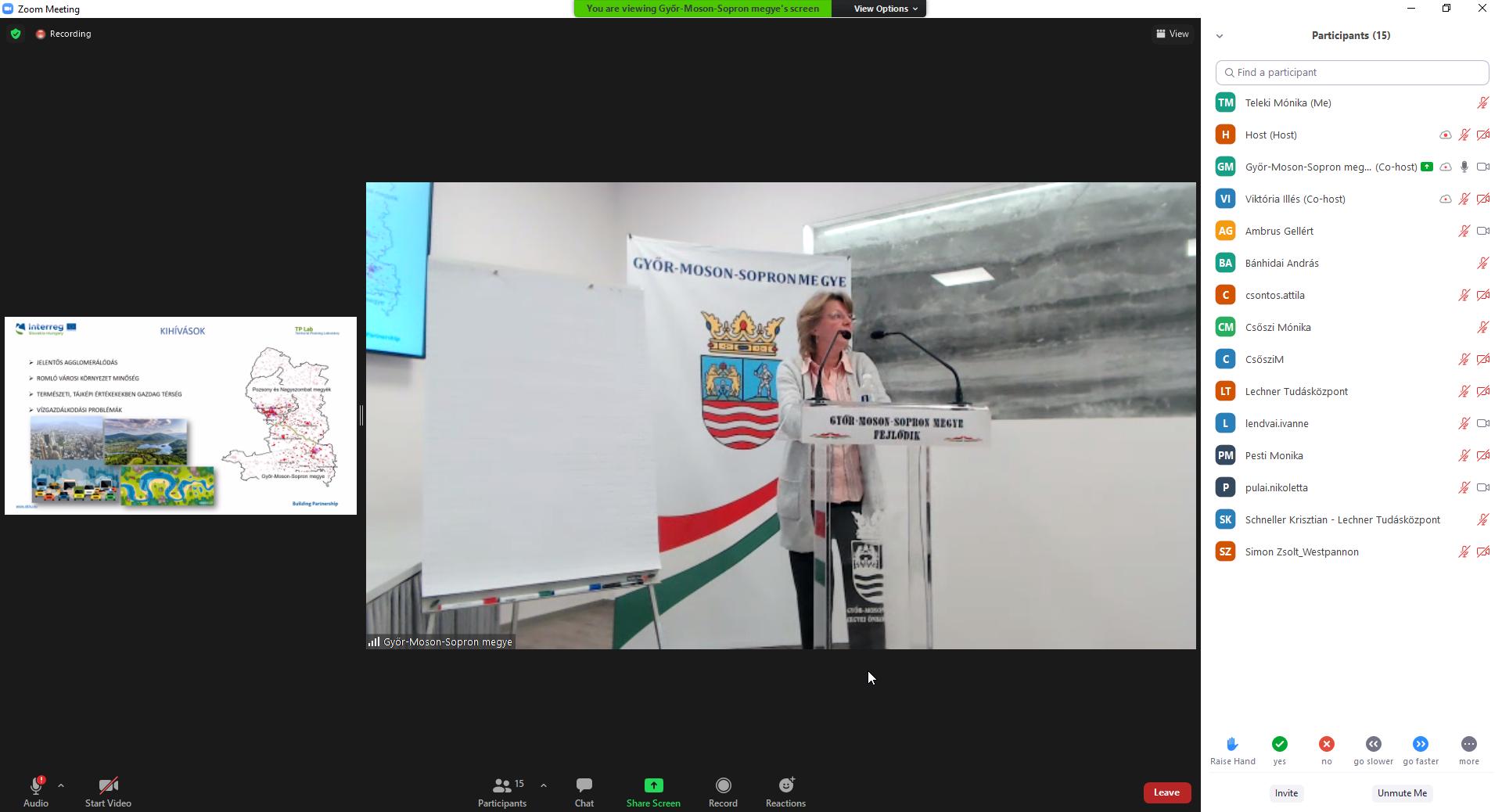 Majorné Vén Mariann előadása a TP LAB projektről