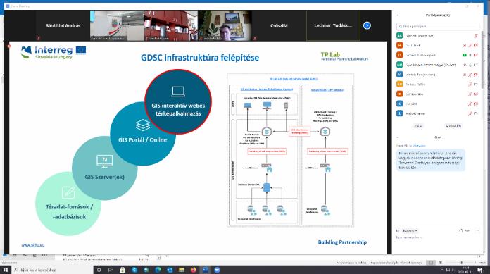 Móricz Dénes előadása a tervezett területi adat- és információszolgáltató platformról